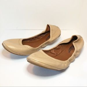 Lucky brand tan leather ballet flats size 8.5